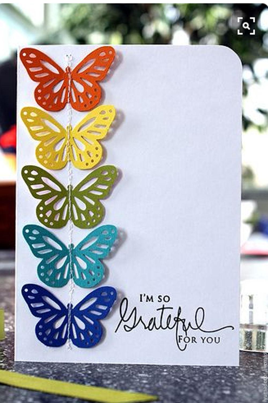 Открытки, сделать открытку с бабочками ребенку