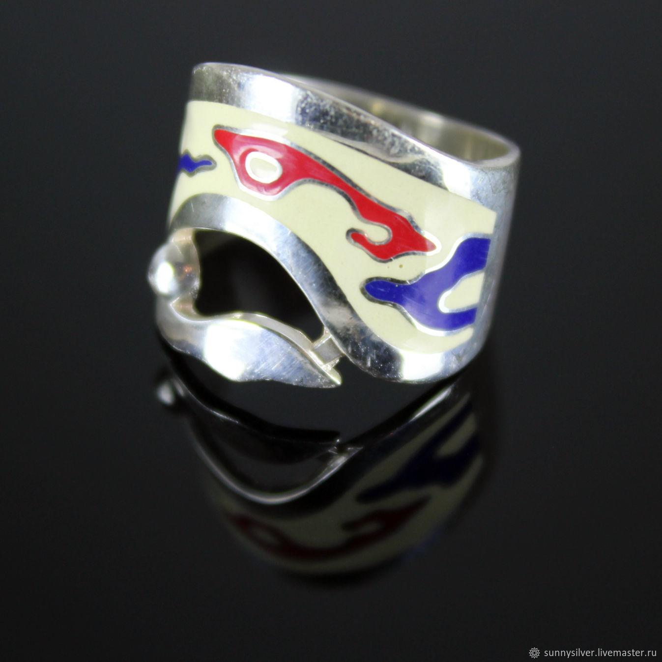 Fantasy ring in 925 sterling silver with enamel, Rings, Yerevan,  Фото №1