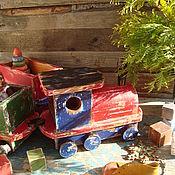 """Куклы и игрушки ручной работы. Ярмарка Мастеров - ручная работа """"В страну детства"""" поезд. Handmade."""