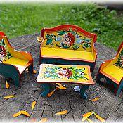 Куклы и игрушки ручной работы. Ярмарка Мастеров - ручная работа Кукольная мебель Гостинная. Handmade.