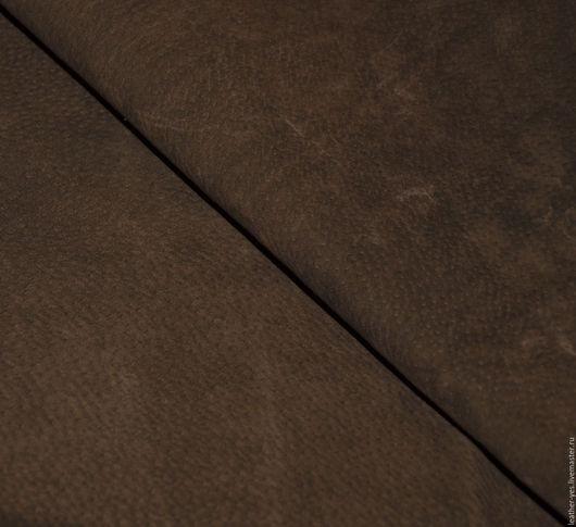Шитье ручной работы. Ярмарка Мастеров - ручная работа. Купить Кожа натуральная, темно-коричневая, Е74. Handmade. Коричневый, спилок