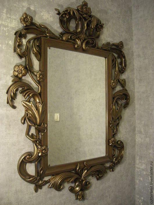 """Зеркала ручной работы. Ярмарка Мастеров - ручная работа. Купить Зеркало """"Барокко"""". Handmade. Рама для зеркала, резная, зеркало"""
