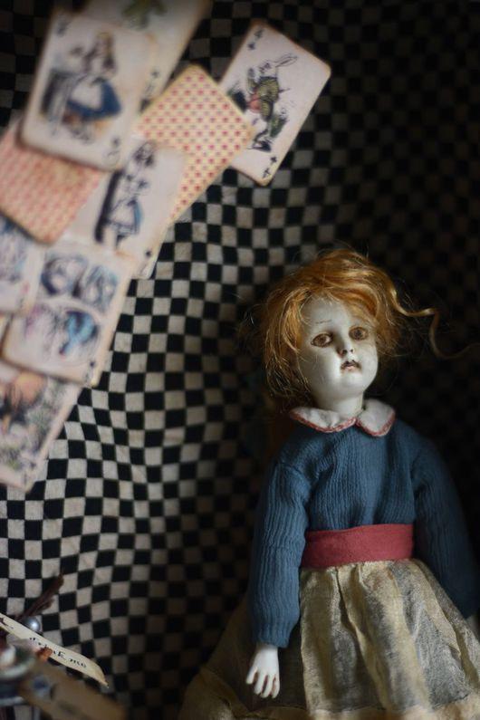 Коллекционные куклы ручной работы. Ярмарка Мастеров - ручная работа. Купить Alice. Handmade. Тёмно-бирюзовый, подарок на любой случай