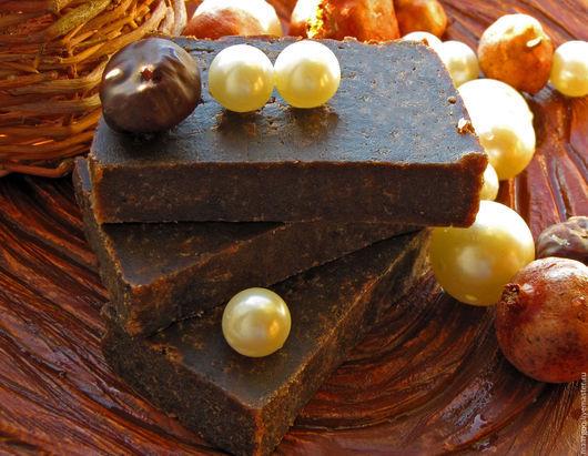 """Мыло ручной работы. Ярмарка Мастеров - ручная работа. Купить Натуральное мыло """"Черный шоколад и корица"""". Handmade. Коричневый, корица"""