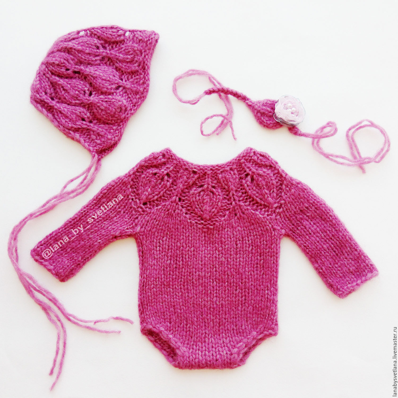 Боди вязание на новорожденного 427