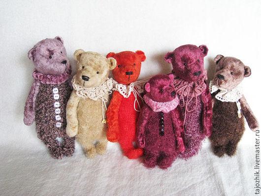 Мишки Тедди ручной работы. Ярмарка Мастеров - ручная работа. Купить Мишки. Handmade. Комбинированный, мишка тедди, стеклянные глазки