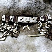 Одежда handmade. Livemaster - original item Nenets belt of the hunter with 2 sheath. Handmade.