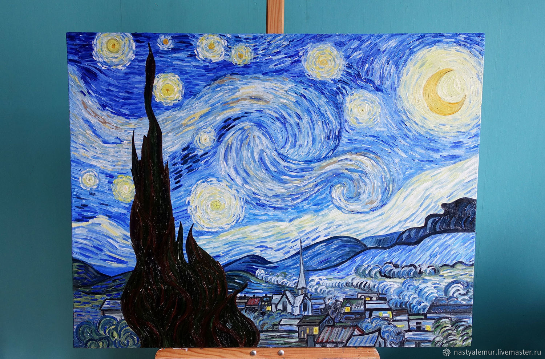 можно поменять картина ван гога звездная ночь оригинал фото изготовления фасадов декоративных