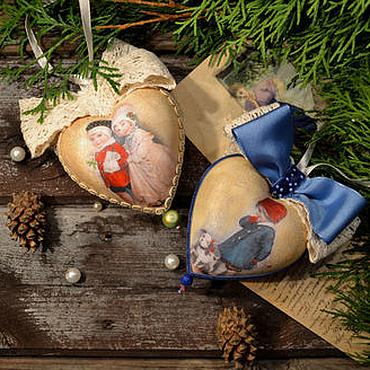 Подарки к праздникам handmade. Livemaster - original item The hearts on the tree,