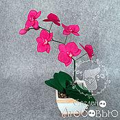 """Цветы и флористика ручной работы. Ярмарка Мастеров - ручная работа """"Орхидея Фаленопсис"""". Интерьерная композиция из фетра. Handmade."""