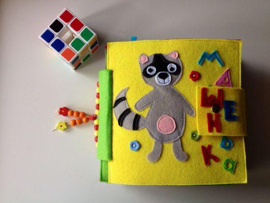 Развивающие игрушки ручной работы. Ярмарка Мастеров - ручная работа. Купить Развивающая книжка из фетра. Handmade. Развивающие игрушки, липучка