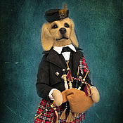 Куклы и игрушки ручной работы. Ярмарка Мастеров - ручная работа Игрушка.Собака.Шотландец.. Handmade.