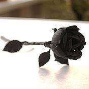 Цветы и флористика ручной работы. Ярмарка Мастеров - ручная работа Черная кованая роза. Handmade.
