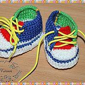 Работы для детей, ручной работы. Ярмарка Мастеров - ручная работа Пинетки кеды. Handmade.