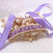 Украшения handmade. Livemaster - original item Choker necklace beaded Ribbon purple. Handmade.
