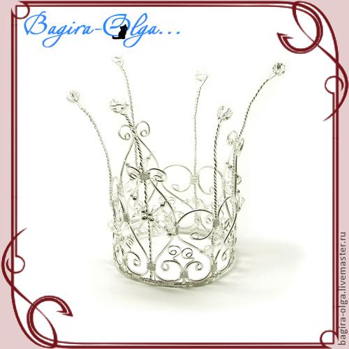 """Свадебные украшения ручной работы. Ярмарка Мастеров - ручная работа. Купить корона """"Маленькая принцесса"""". Handmade. Корона, корона для принцессы"""