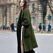 Одежда handmade. Livemaster - original item Copy of Black wool oversize coat. Handmade.