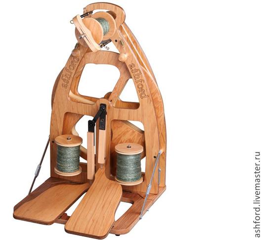 Другие виды рукоделия ручной работы. Ярмарка Мастеров - ручная работа. Купить Прялка Joy, с двумя педалями.. Handmade. Золотой