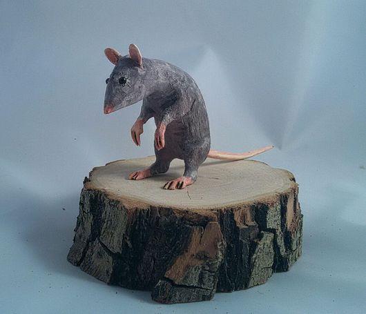 Статуэтки ручной работы. Ярмарка Мастеров - ручная работа. Купить Мышонок из дерева. Handmade. Мышь, фигурки животных, forestguy