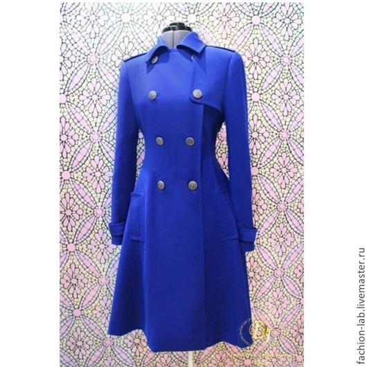 Блузки ручной работы. Ярмарка Мастеров - ручная работа. Купить Синее легкое плащ-пальто.. Handmade. Синий, мода для полных