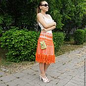 """Одежда ручной работы. Ярмарка Мастеров - ручная работа Вязаная юбка """"Ажур"""". Handmade."""