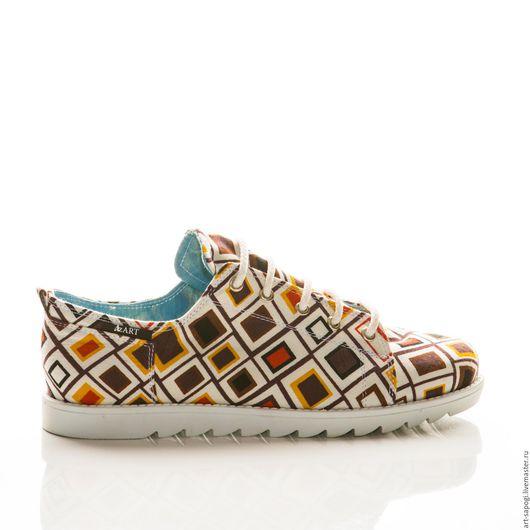 Обувь ручной работы. Ярмарка Мастеров - ручная работа. Купить Кеды 12-299 (СБ). Handmade. Мода, кеды