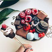 Банки ручной работы. Ярмарка Мастеров - ручная работа Вкусная банка сахарница  с декором из полимерной глины. Handmade.