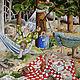 Юмор ручной работы. Ярмарка Мастеров - ручная работа. Купить Картина маслом. Веселые старушки. Отдых в гамаке ))). Handmade.