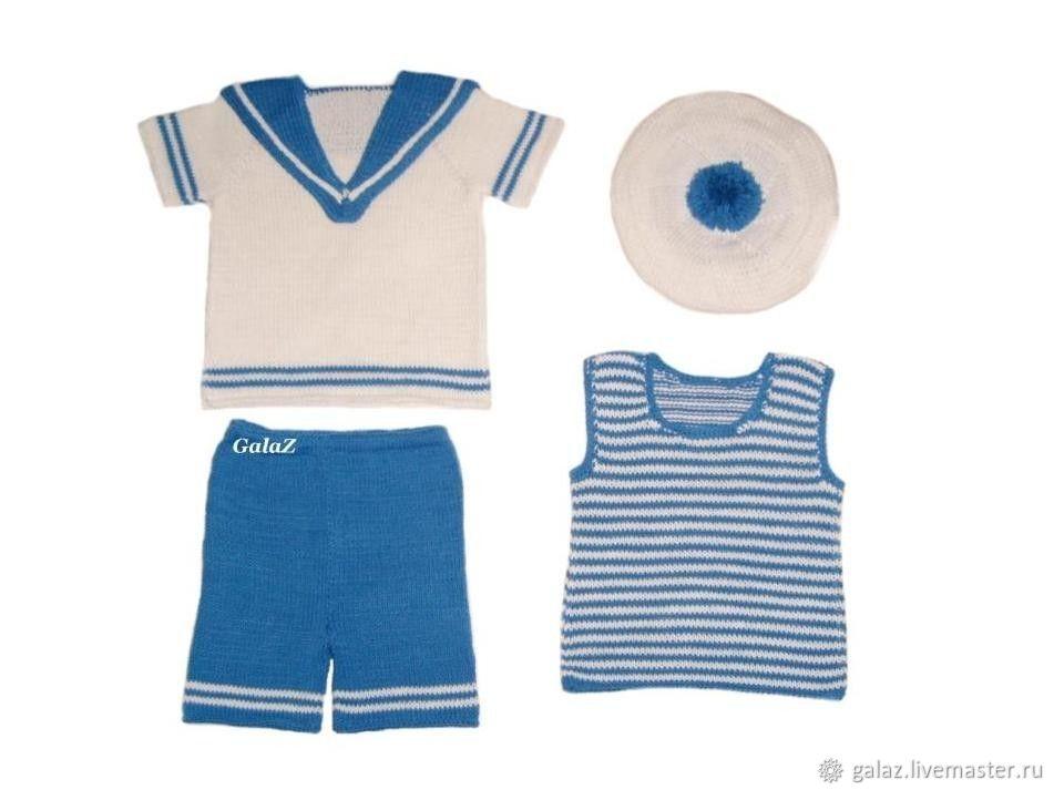"""Одежда для мальчиков, ручной работы. Ярмарка Мастеров - ручная работа. Купить Костюм """"Моряк"""". Handmade. Комплект, для мальчика"""