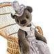 Мишки Тедди ручной работы. Ярмарка Мастеров - ручная работа. Купить Мишка тедди Дымка. Handmade. Тедди, авторская игрушка