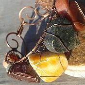 """Украшения ручной работы. Ярмарка Мастеров - ручная работа Браслет из меди и алтайских камней """"Горный мед"""". Handmade."""