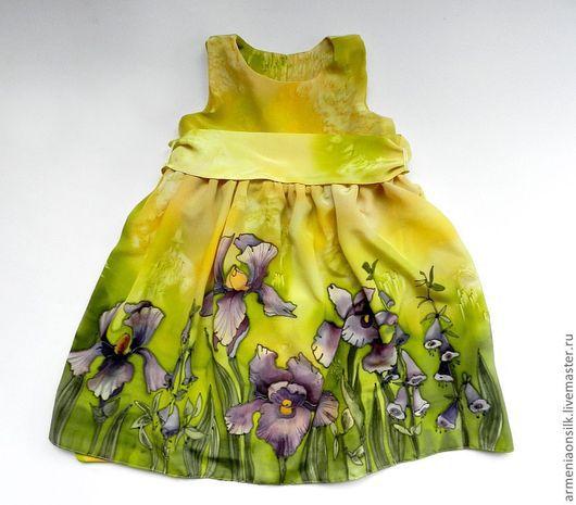 """Одежда для девочек, ручной работы. Ярмарка Мастеров - ручная работа. Купить Платье батик для девочки """"Ириска"""". Handmade. Платье батик"""