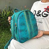 Сумки и аксессуары handmade. Livemaster - original item Opulent Python skin backpack. Handmade.