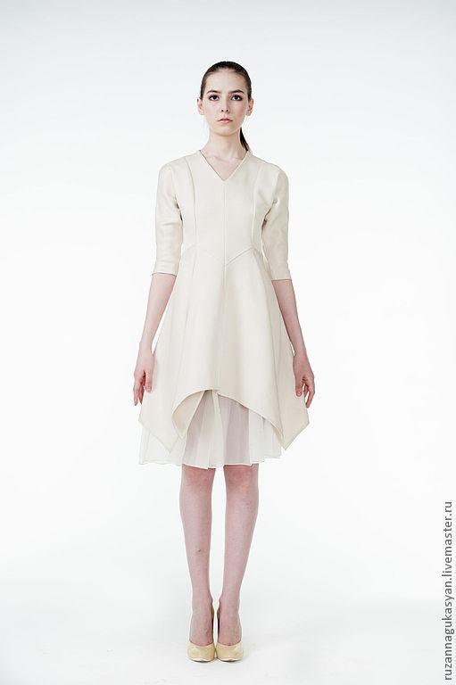 Платья ручной работы. Ярмарка Мастеров - ручная работа. Купить Платье с подъюбником от RUZANNA GUKASYAN. Handmade. Белый, платье вечернее