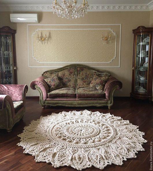 Текстиль, ковры ручной работы. Ярмарка Мастеров - ручная работа. Купить Ковёр Шарм 2м40. Handmade. Бежевый