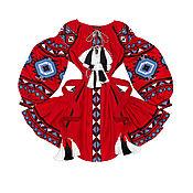 """Одежда handmade. Livemaster - original item Красное платье с клиньями """"Лесная Песня"""". Handmade."""