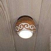 Для дома и интерьера handmade. Livemaster - original item Ceramic spot ceiling lamp