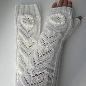 Аксессуары handmade. Livemaster - original item Fingerless long gloves Flower. Handmade.