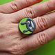 Кольца ручной работы. Ярмарка Мастеров - ручная работа. Купить кольцо Улыбка Тоторо. Handmade. Разноцветный, totoro, полимерная глина