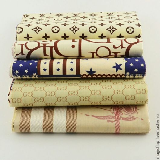 Шитье ручной работы. Ярмарка Мастеров - ручная работа. Купить Набор тканей Бренды. Хлопок для одежды, пэчворка, текстиля, декора. Handmade.