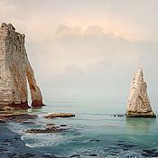 handmade. Livemaster - original item Seascape Fine art photography print Cliffs of Etretat. Handmade.