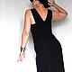Платья ручной работы. Платье-жилет БЛЕФ.  Designer Nelly Novozhilova (complimento). Ярмарка Мастеров. Ассиметричное платье, длина миди