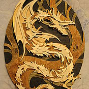 Картины и панно handmade. Livemaster - original item Panels Wood dragon. Handmade.
