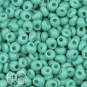 Материалы для творчества handmade. Livemaster - original item 10gr 3mm Toho magatama 55 turquoise Japanese beads TOHO opaque. Handmade.