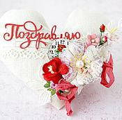 Подарки к праздникам ручной работы. Ярмарка Мастеров - ручная работа Мягкая валентинка Ажур. Handmade.