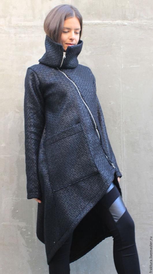 """Верхняя одежда ручной работы. Ярмарка Мастеров - ручная работа. Купить Пальто  """"Glow"""" C0007. Handmade. Длинное пальто"""