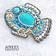 Brooch 'Fish Sunny with turquoise'. Brooches. Simkha - Jewelry For Joy. Online shopping on My Livemaster.  Фото №2