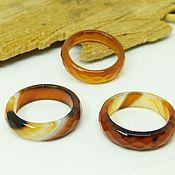 Украшения handmade. Livemaster - original item Ring of brown-red agate 18 R-R with cut. Handmade.