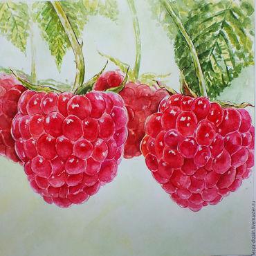 """Картины и панно ручной работы. Ярмарка Мастеров - ручная работа """" Малина - ягода  """". Handmade."""