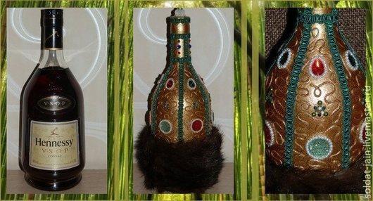 В РЕАЛЬНОСТИ БУТЫЛКА СМОТРИТСЯ НА МНОГО БОГАЧЕ.\r\nНа фото представлена бутылка коньяка 1 л. \r\nЦена оформления бутылки 1 л. = 2200 рублей